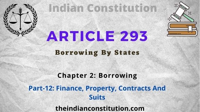 Article 293 Borrowing By States