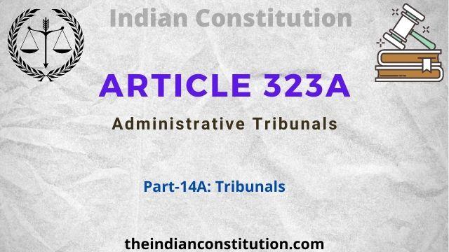 Article 323A Administrative Tribunals